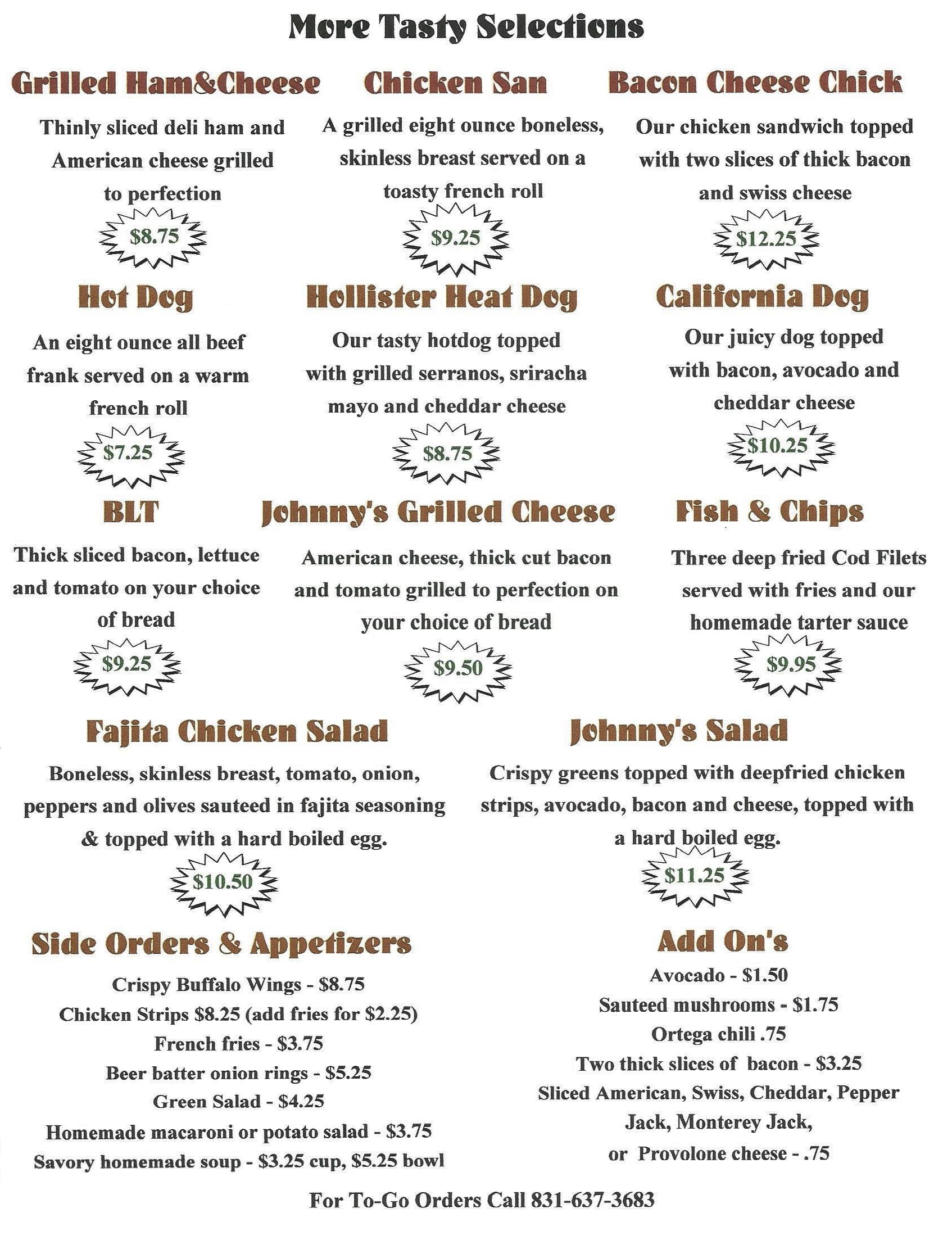 Johnny's Menu - Final Draft copy 2