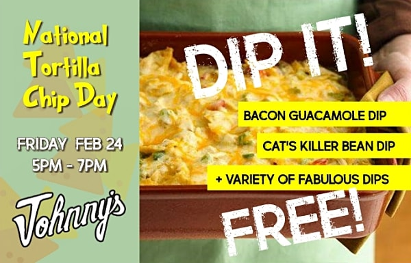 Johnny's Bar and Grill celebrates National Tortilla Chip Day in Hollister, California