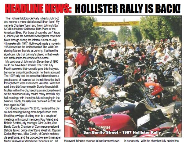 Hollister Rally 2013 Headline News